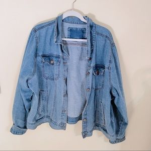 Plus size Forever 21 jean jacket